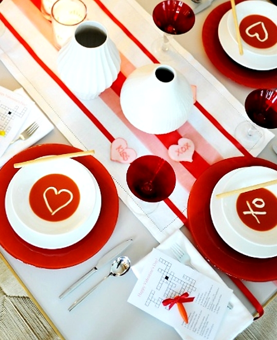 Top 10 Romantic Valentine\'s Day Table Settings | Housekeeper London