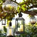 Bubble caged glass lanterns