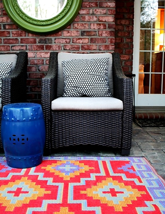 Coloured Outdoor Rug