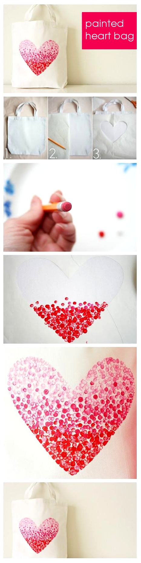 DIY heart bag