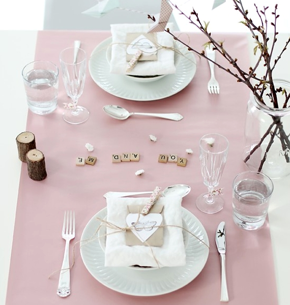Valentines Day Table Setting You and Me